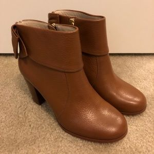 Kate Spade Lanice Bow Back Leather Booties